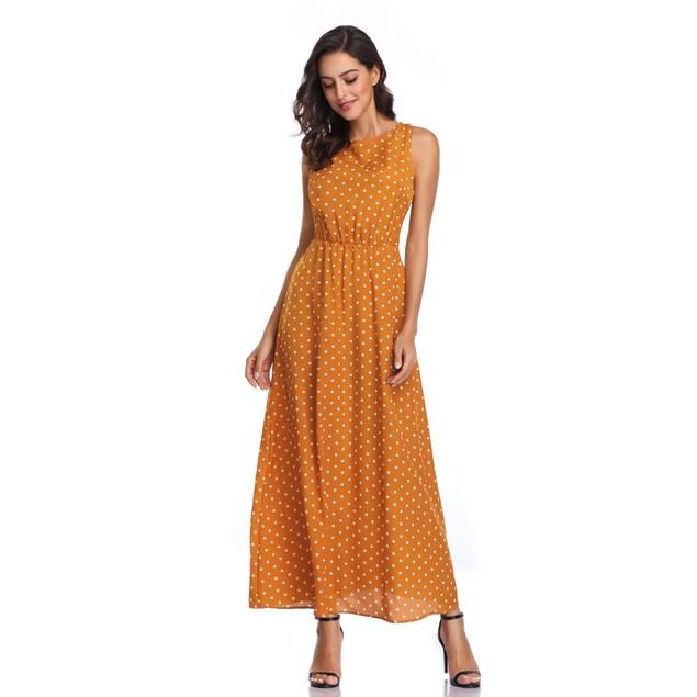 Sleeveless Polka Dot Dress - 3 Available Colors