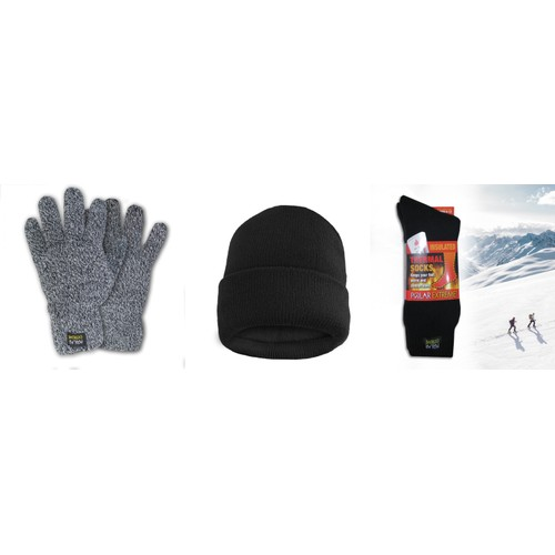 Polar Extreme Insulated Hat Thermal Socks And Thermal glove Gift set