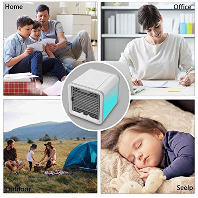 Portable 3-in-1 USB Mini Air Cooler, Humidifier & Purifier