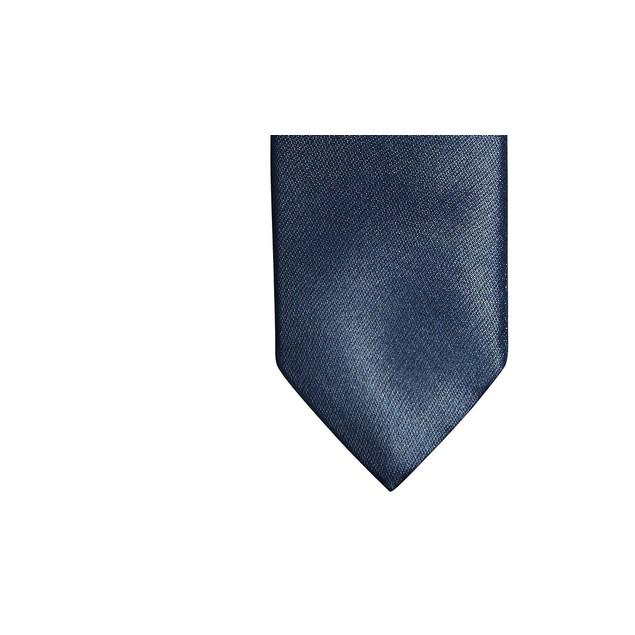 Tallia Men's Slim Horizon Blue Textured Tubular Tie Blue Size Regular