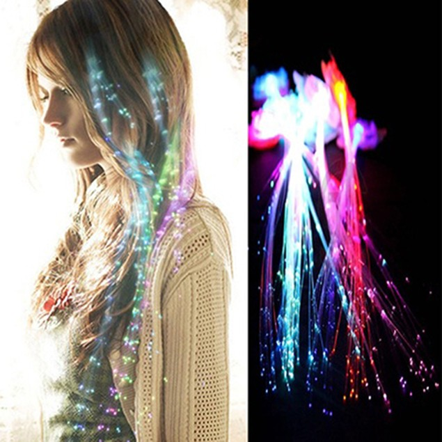 Party Cool Clip Glow LED Hair Extension