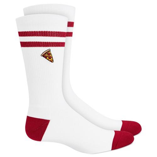 Bar III Men's Pizza Socks White Size Regular