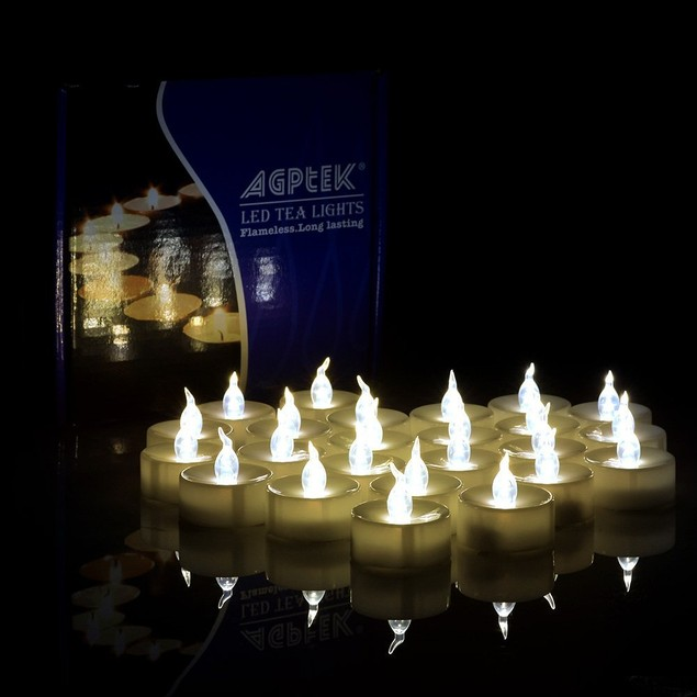AGPtek®100PCS LED Tealights Battery Operated Flameless Flickering Candles