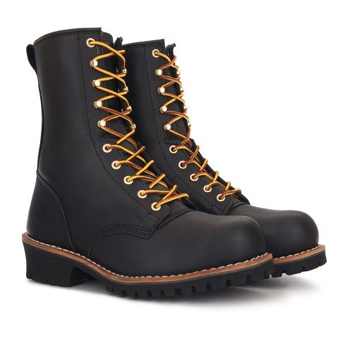 ROCKROOSTER Steel Toe Logger Boots Work Boots Anti-Puncture Good Year Welt