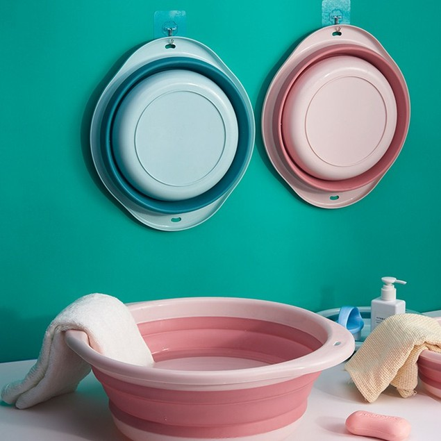 Folding Washbasin Children Portable Travel Student Dormitory Laundry Tub Household