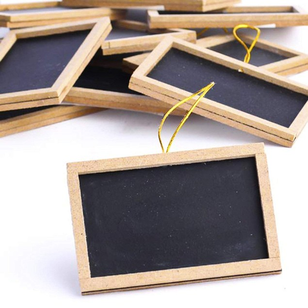 "Mini Small Chalkboards 2"" X 3"" Rustic Wedding Place Cards Display"