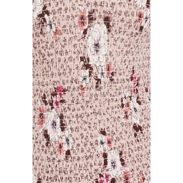 American Rag Juniors' Printed Smocked Top Pink Size Medium