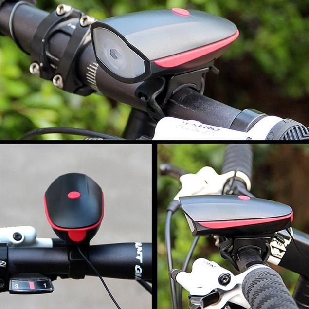 USB Multifunctional Night Riding Waterproof Glare Light Rechargeable Speaker Headlight Set Mountain Bike Accessories