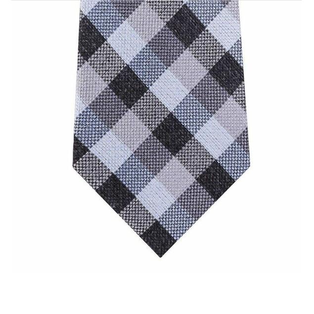 Michael Kors Men's Classic Gingham Check Tie Navy Size Regular