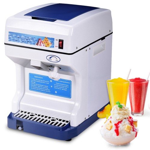 Costway Electric Ice Shaver Machine Tabletop Shaved Ice Crusher Ice Snow Co