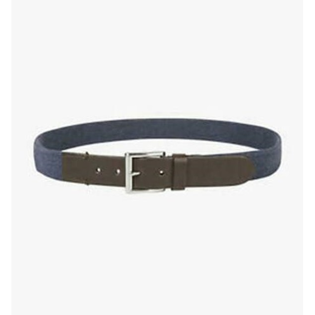 Club Room Men's Casual Stretch Belt  Dark Blue Size Extra Large
