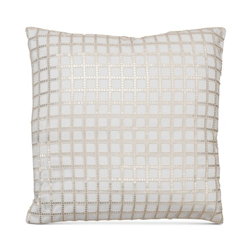 "Hallmart Collectibles Square Sequin Lace Decorative Pillow, 20"","
