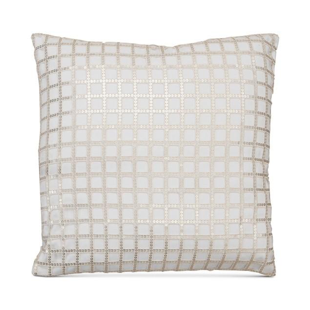 "Hallmart Collectibles Square Sequin Lace Decorative Pillow, 20"","