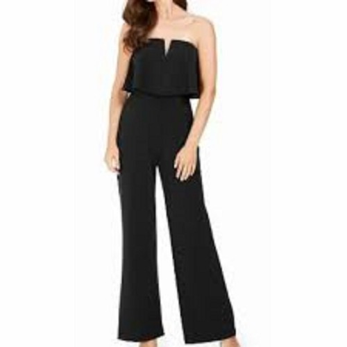 Adrianna Papell Women's Popover Jumpsuit Black Size 8