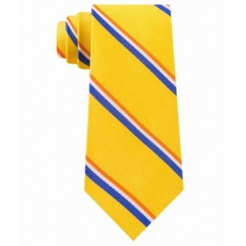 Tommy Hilfiger Men's Bronx Stripe Silk Tie Yellow One Size
