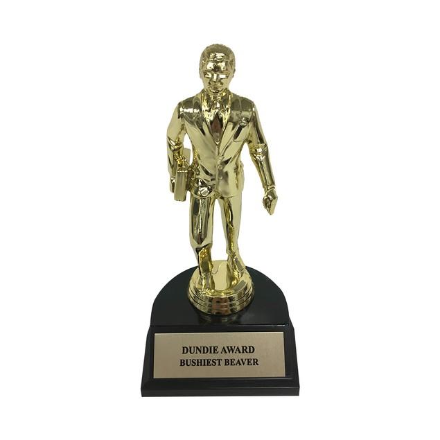 Bushiest Beaver Dundie Award Trophy