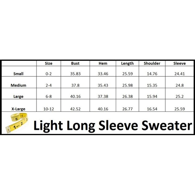 Light Long Sleeve Sweater