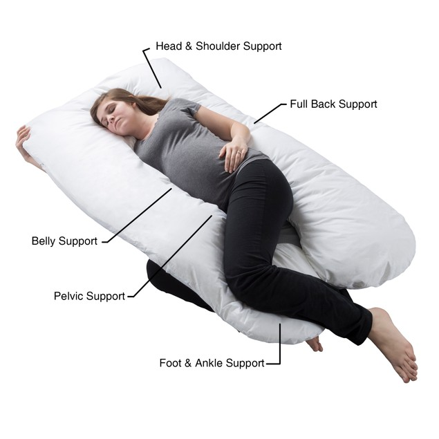 Pregnancy Pillow, Full Body Maternity Pillow with Contoured U-Shape