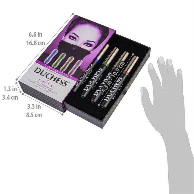 DUCHESS by SHANY 4-Piece Color Mascara Set