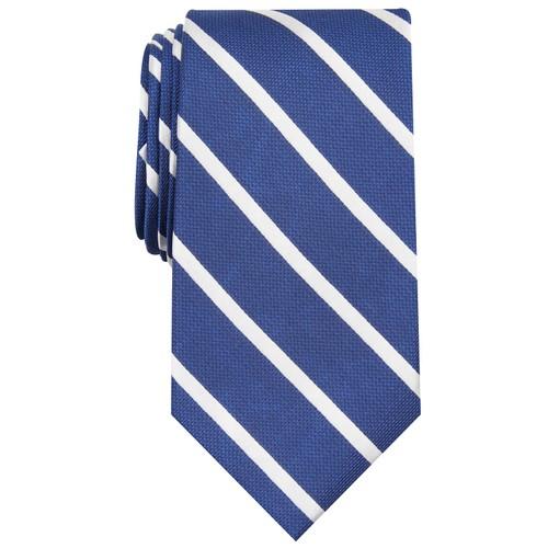 Club Room Men's Stripe Tie Size Regular Blue