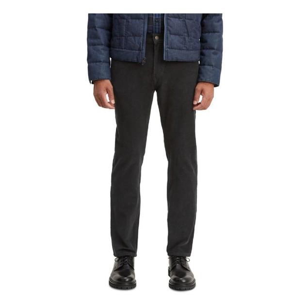 Levi's Men's 502 Taper Corduroy Pants Black Size 34X29