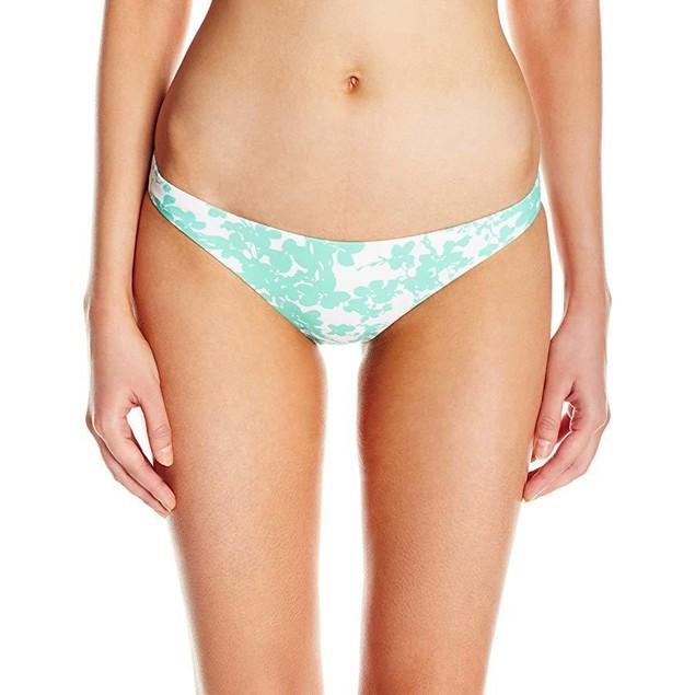 Shoshanna Women's Beach Vine Classic Bikini Bottom, Mint/White, Medium