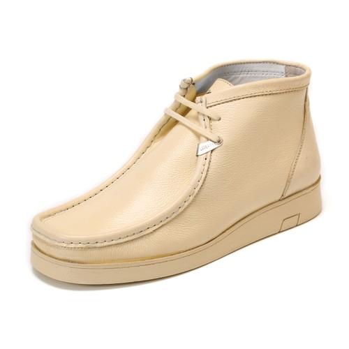 LibertyZeno Men's Genuine Leather High Top Moc Toe Desert Chukka Casual Shoes-HJ