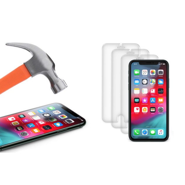 3-Pack ShatterGuardz Tempered-Glass Screen Protectors for Apple iPhones