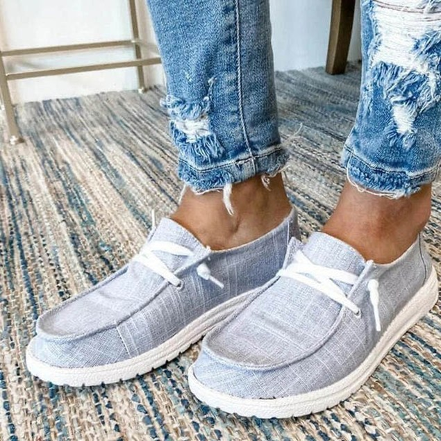 Women's Breathable Lace Up Casual Sneakers