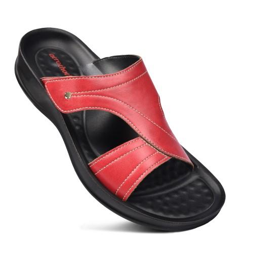 AEROTHOTIC Crossroad Velcro Strap Women Slide Sandals