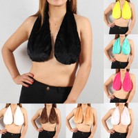 Hanging Neck Towel Bra (Random Colors)