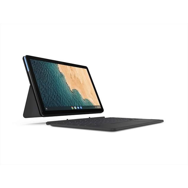 "Lenovo Chromebook Duet 10.1"" 128GB Chrome OS,Ice Blue + Iron Grey"