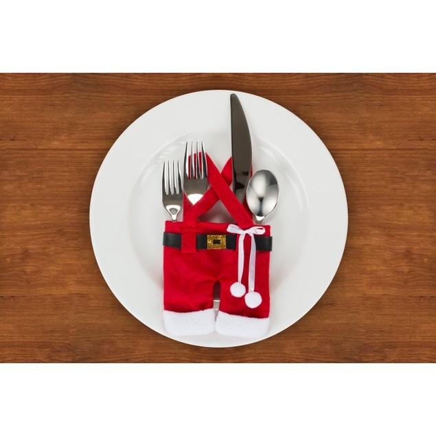 Santa Silverware Holders-6 Pc Set