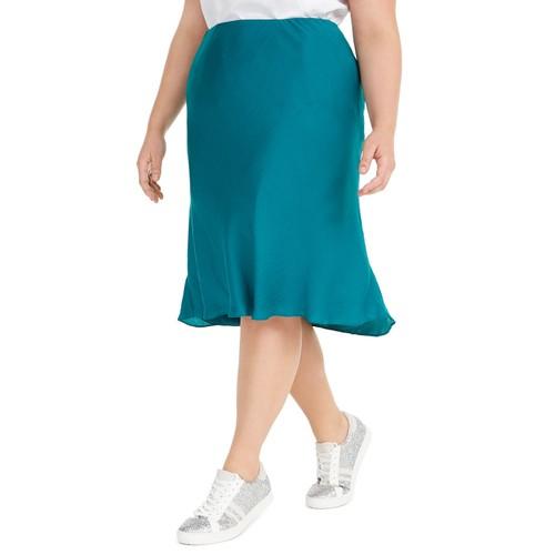 INC International Concepts Women's Plus Skirt  Blue Size 3 Extra Large