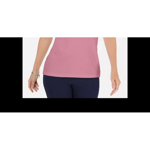 Karen Scott Women's Solid T-Shirt Purple Size XX-Large
