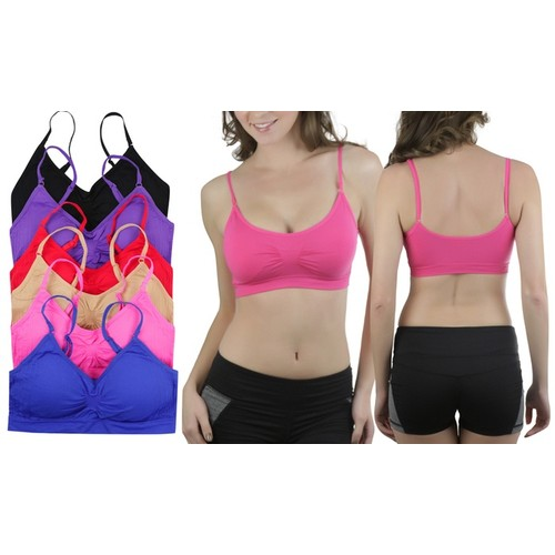 (6-Pack) ToBeInStyle Women's Padded Supportive Bralettes