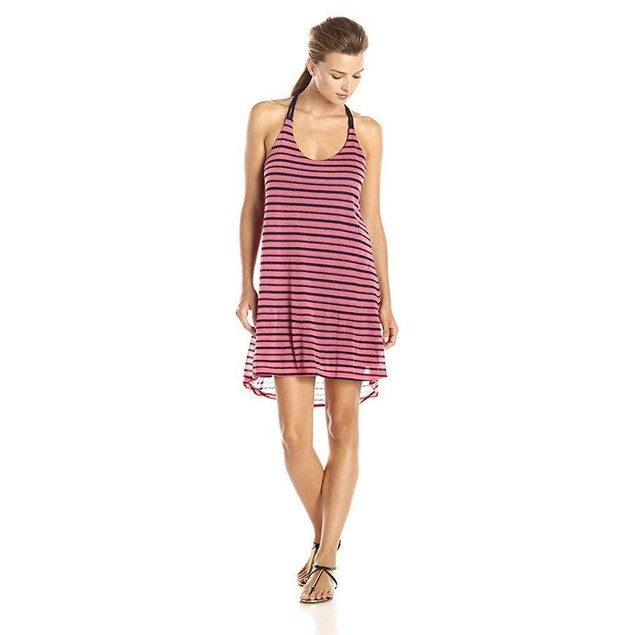 Splendid Women's Valletta Stripe Jersey Tank Dress, Desert Rose, Large