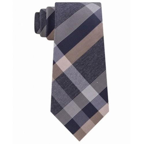 Kenneth Cole Reaction Men's Ruby Plaid Slim Tie Brown Size Regular