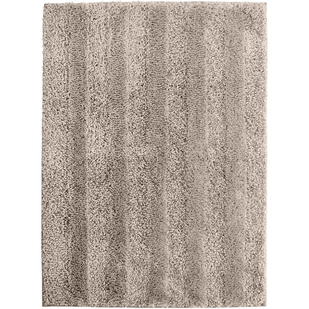 Mohawk Home Luster Stripe 17 Inches x 24 Inches Bath Rug, Cloud Burst