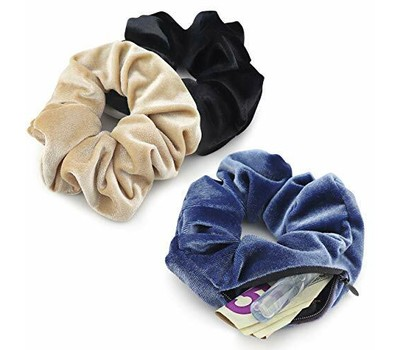 Scrunchies with Pocket - 6PK Was: $54.99 Now: $11.99.