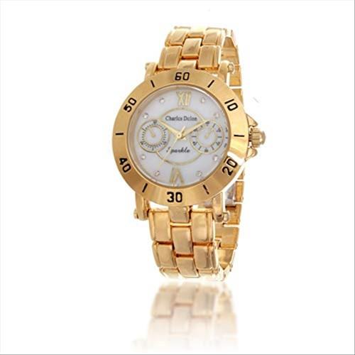 Charles Delon Women's Watches 5657 LGMD Gold/Gold Stainless Steel Quartz Round