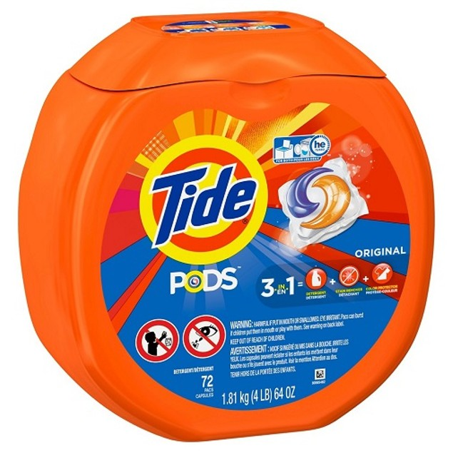 Tide Pods Original Scent Laundry Detergent Pacs 72 Count