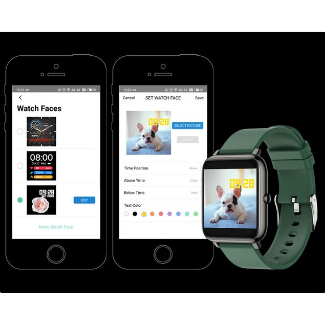 TouchTime Square - Full Screen SmartWatch