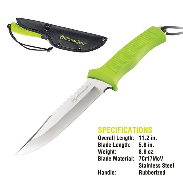 Kilimanjaro 11 Inch Fine-Edge Hunting Knife (Talbot) - 910044