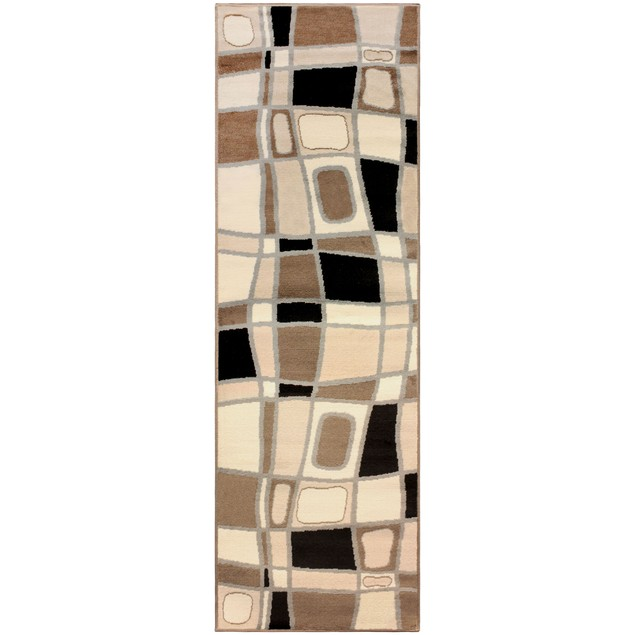Abstract Corbblestone Area Rug Collection