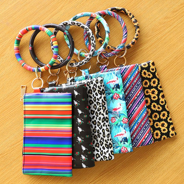 PU Bracelet Ladies Key Chain Bracelet Wallet Mobile Phone Bag