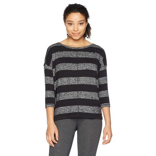 Calvin Klein Women's Crew Neck Boxy Pullover Black Combo Size Medium