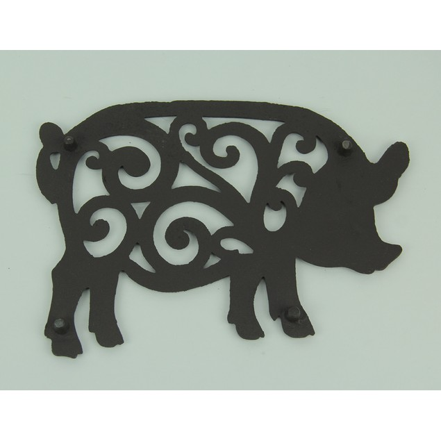 Set Of 2 Decorative Cast Iron Pig Trivets Trivets