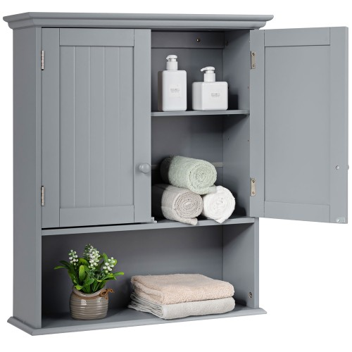 Costway Wall Mount Bathroom Cabinet Storage Organizer Medicine Cabinet Kitc