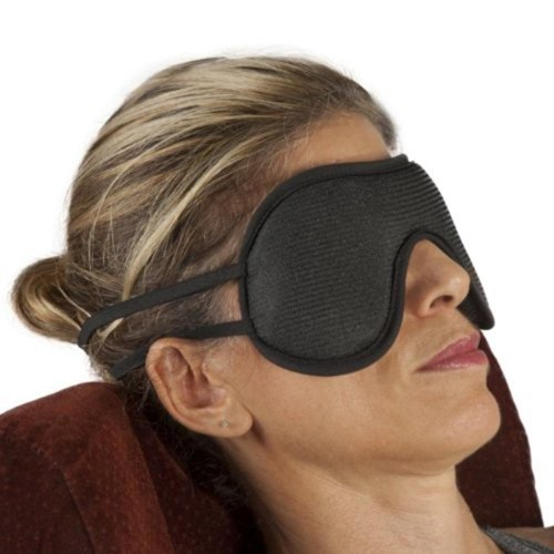 Bioflex Magnetic Nylon Eye Mask, Ideal for Sleeping, Universal, Black